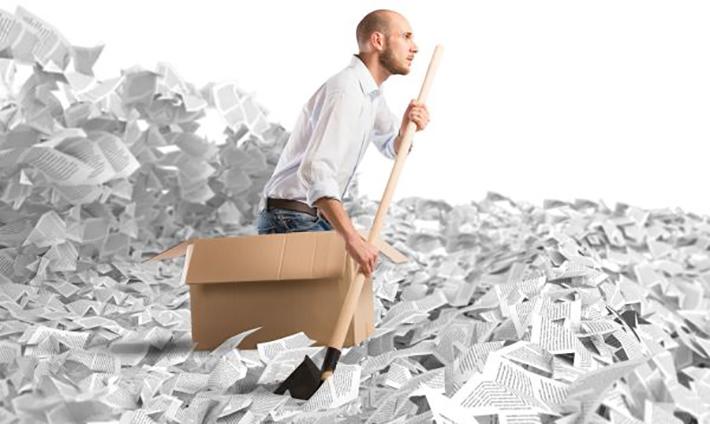Was muss aufbewahrt werden? Zu viel aufzubewahren, weil man wichtige Unterlagen nicht ausversehen entsorgen will, ist nicht empfehlenswert. (#01)